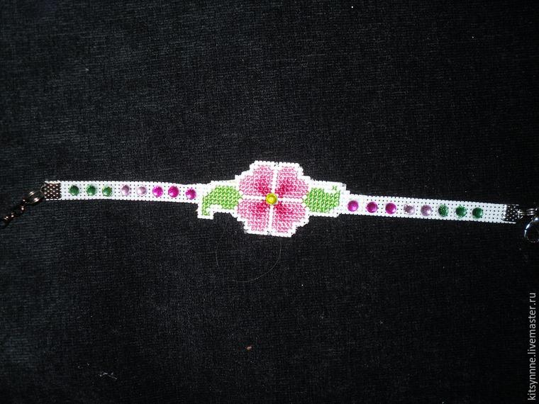 Как сделать браслет с вышивкой «Весеннее настроение», фото № 11