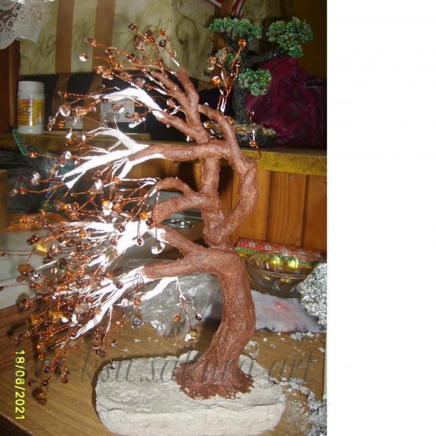 Деревья как сделать бисерное дерево