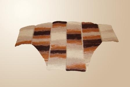 Вяжем свитер «летучая мышь» из меланжевой пряжи, фото № 4