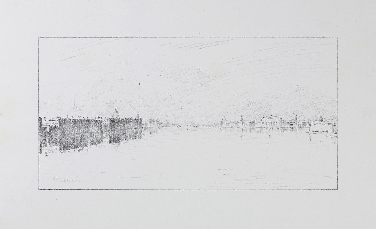 Черно-белая графика знаменитых художников, фото № 36