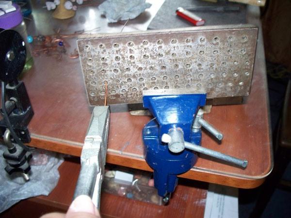 работа с металлом, проволока, мк, мастер-класс, работа с проволокой, диаметр проволоки, как уменьшить диаметр