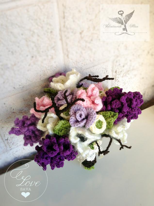 букет, фиолетовый, savaflowers