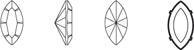 сваровски овал размер
