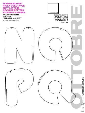 Буквы из ткани своими руками схемы шаблоны