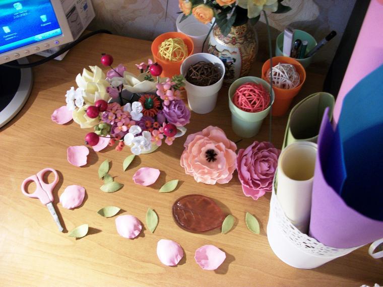 фом эва, цветы из фома