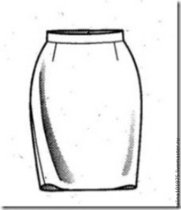 Выкройка юбка прямая короткая
