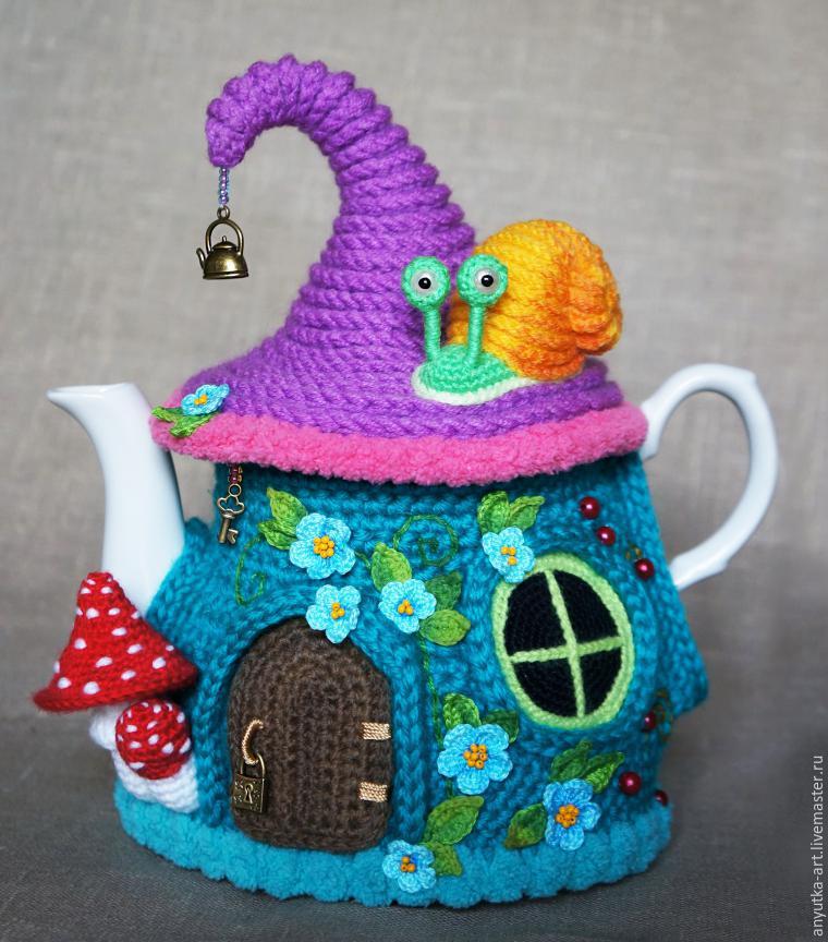 Вяжем крючком грелки на чайники