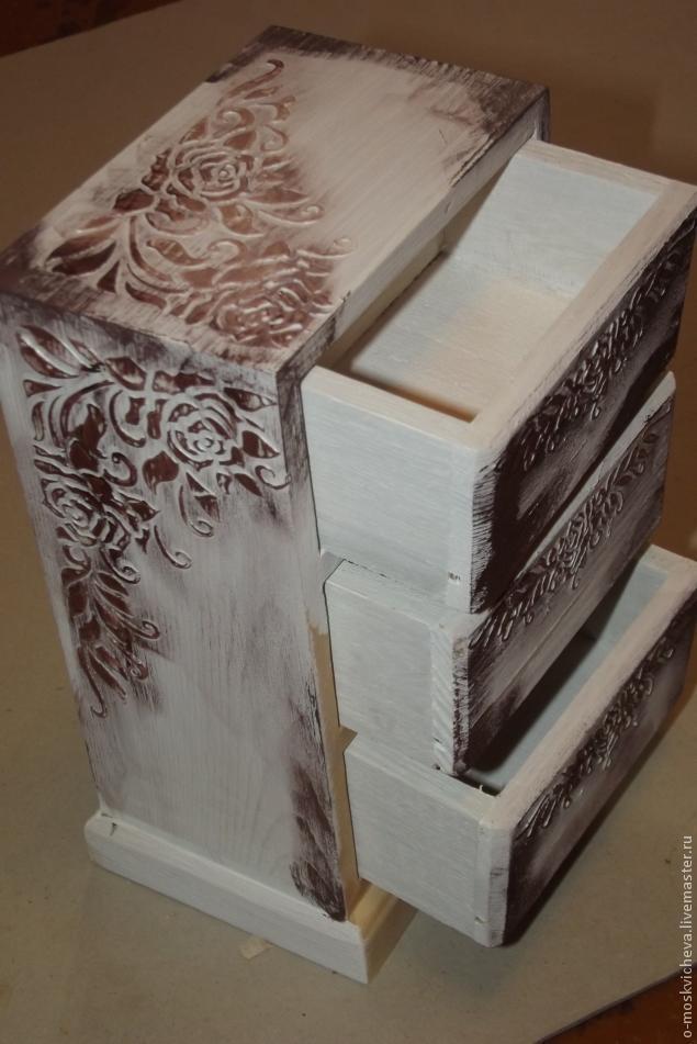роспись по дереву, состаривание поверхности