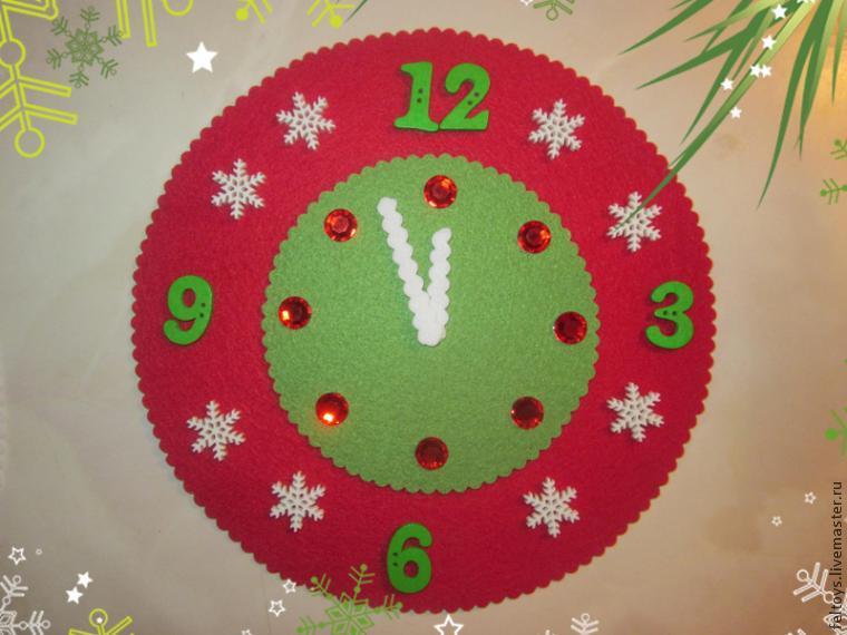 Новогодние поделки своими руками часы из бумаги