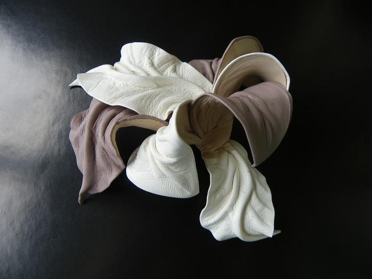 новая коллекция, цветы из кожи лето