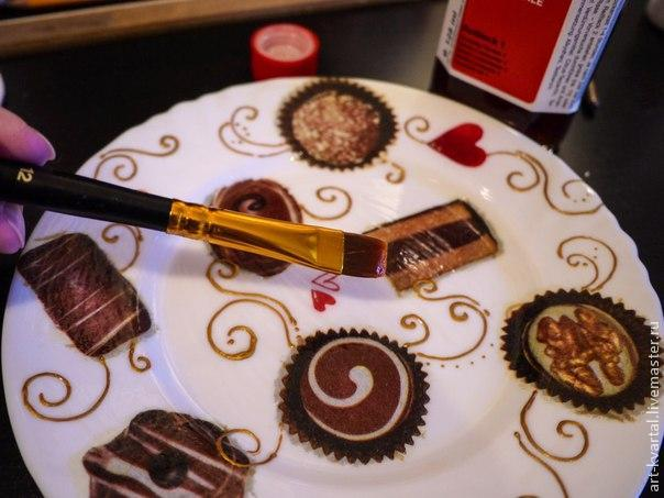 Сладкий декор тарелки, фото № 4