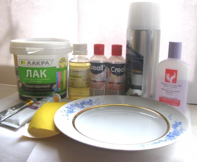 Декупаж фарфоровой тарелки своими руками