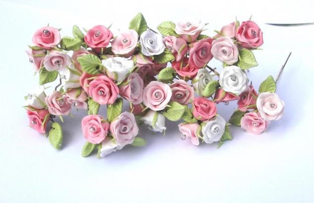 розы, шпильки с розами