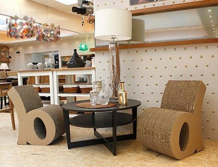 Мебель из картона в интерьере вашего дома 4 (700x535, 92Kb)