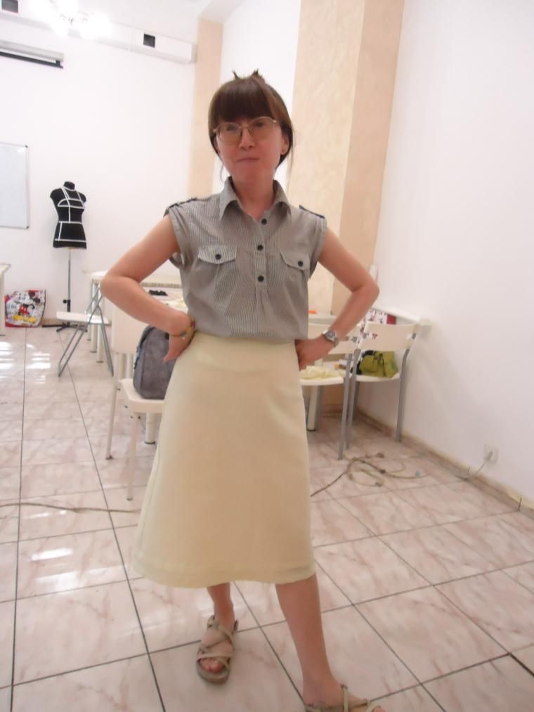 юбка на подкладке, мастер класс по шитью