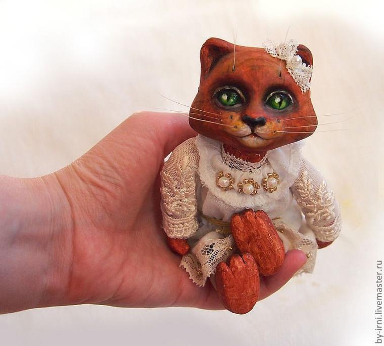 акция к 8 марта, кошка, коллекционная кукла, ручная работа, киса, балерина
