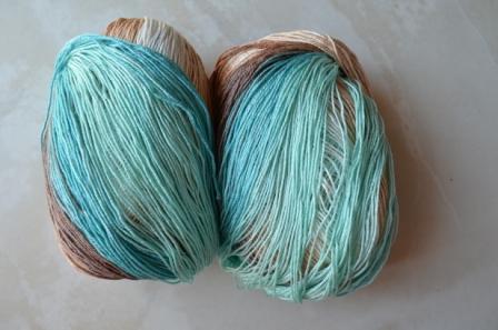 пряжа для вязания, эффект шёлка