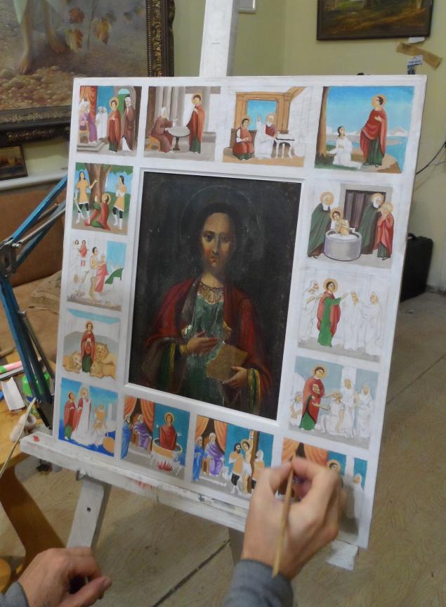 Работа, реставрация, новый оклад для старой иконы., фото № 1