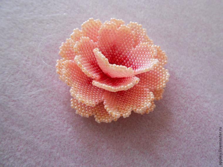How to Make a Small Flower out of Beads, фото № 44