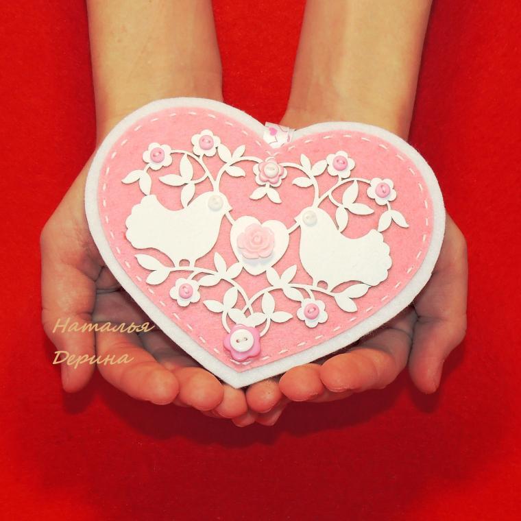 сердечко, валентинка, розовый