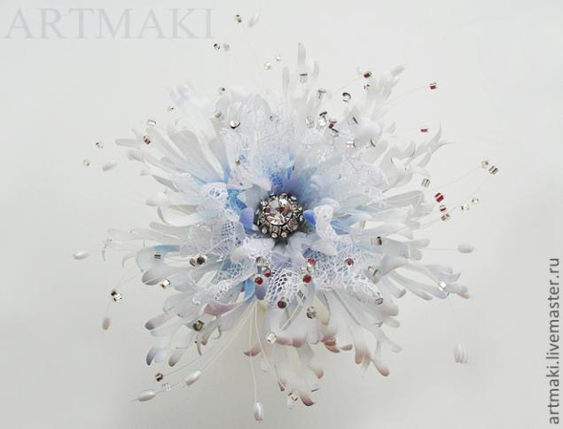 Фантазийный цветок «Из мира снежинок», фото № 14