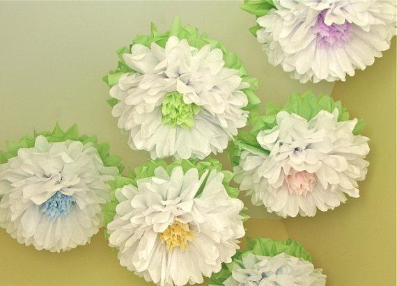 бумажные шары, цветы из бумаги, pompon, праздник, гирлянды, цветы, бумага