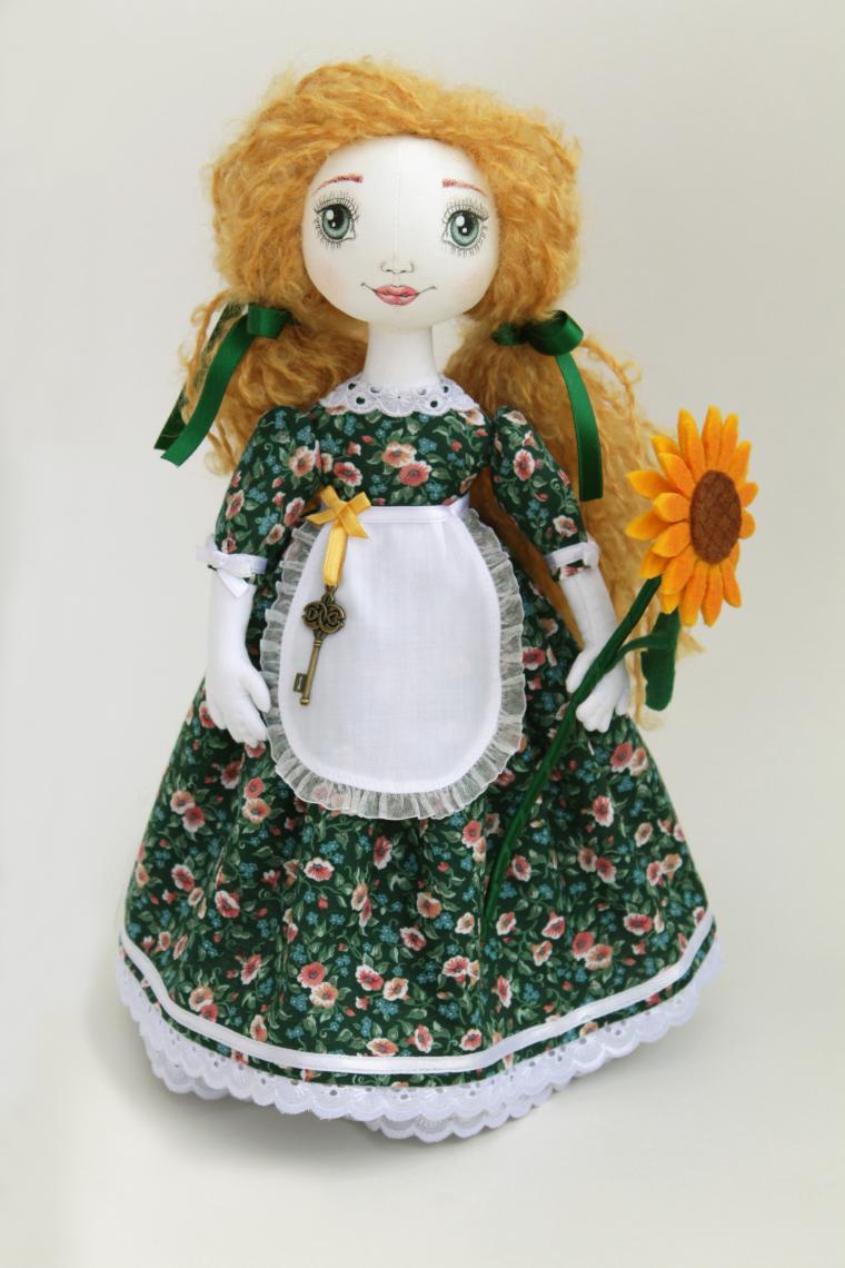 текстильная кукла, кукла хозяюшка, интерьерная игрушка