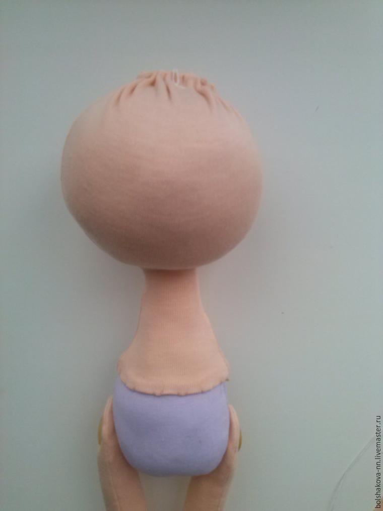 кукла большеножка как обтянуть голову трикотажем