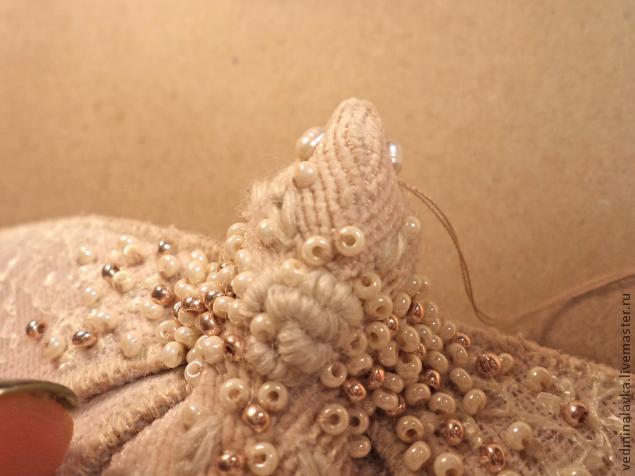 Текстильная брошь-мотылек, фото № 23