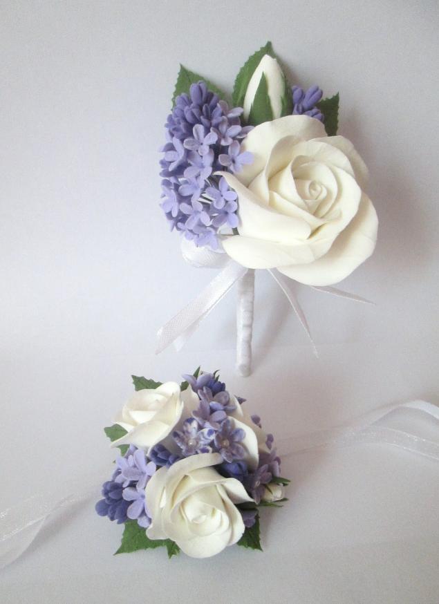 цветы из полимерной глины, бижутерия, лепка из пластики