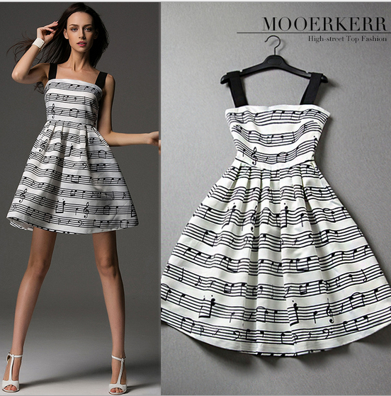Платье для красивых нот