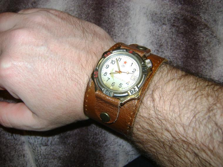 Кожаные браслеты для часов - Ярмарка Мастеров - ручная работа, handmade