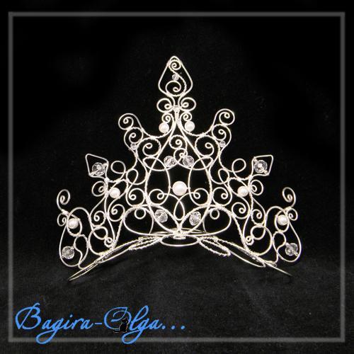Корона снежной королевы из проволоки своими руками
