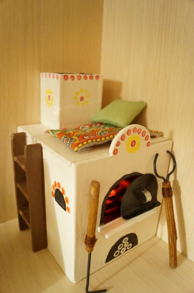 Печка для кукольного домика своими руками 55