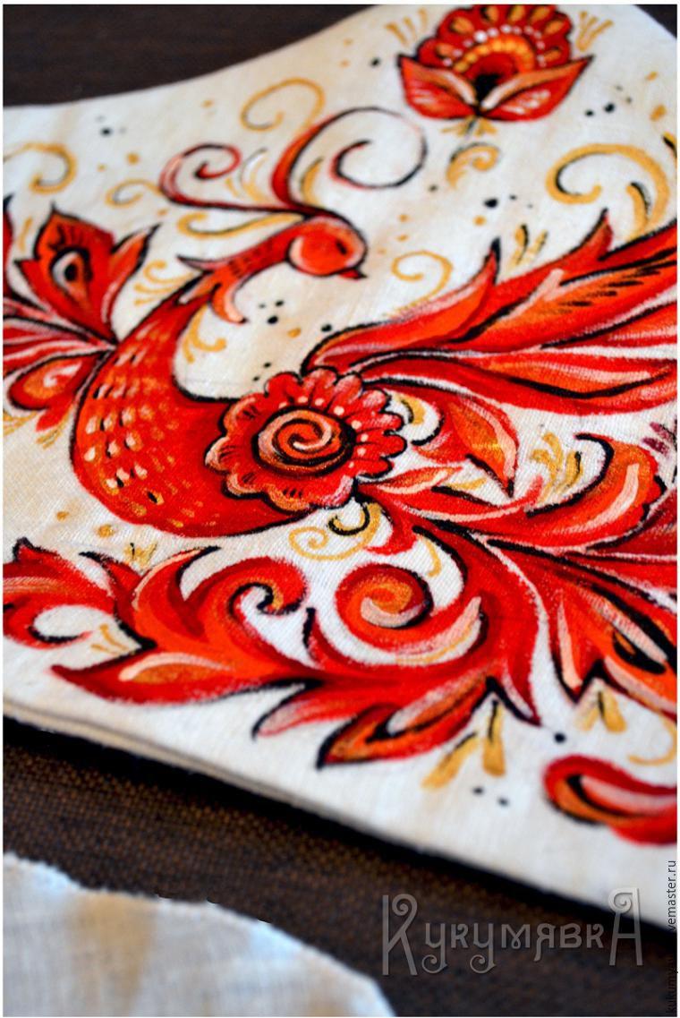 ручная роспись, перья