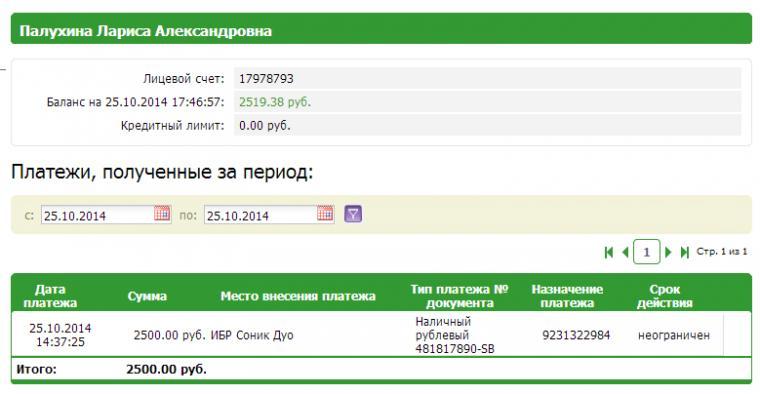 Отчет о поступлении средств, за период с 14.10.14, фото № 30