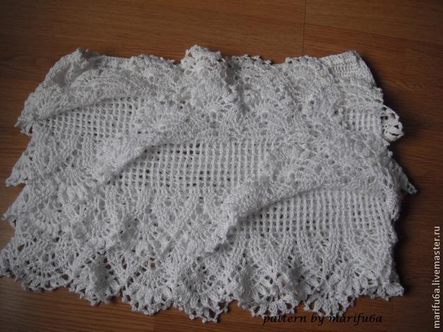 Длинная юбка крючком (вязание