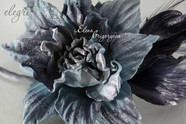 технология от elegri, кожаные цветы