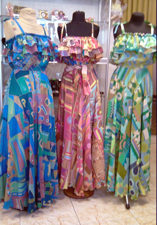 платье батик, шелковый сарафан