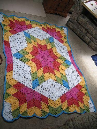 Free Prairie Star Afghan Pattern via Ravelry