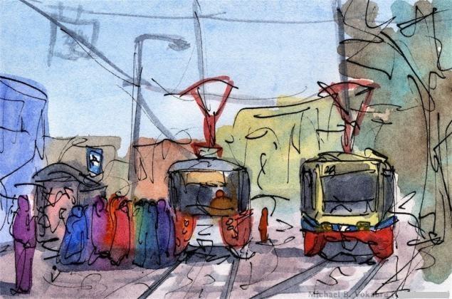 Путешествуем с Михаилом Щербаковым (Vokabre): быстрые зарисовки акварелью, фото № 28