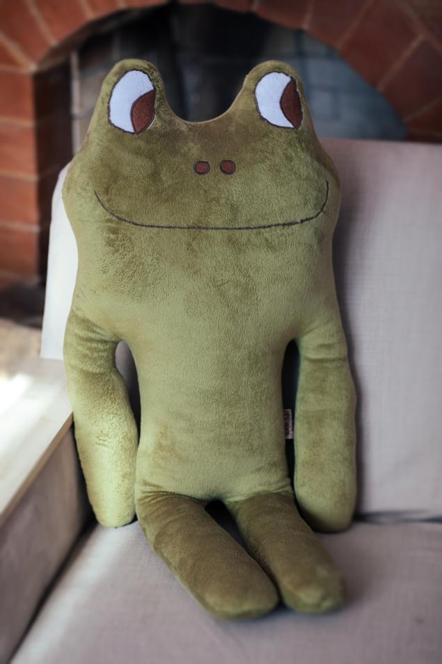 магазин mimifriends, лягушка, игрушка подушка