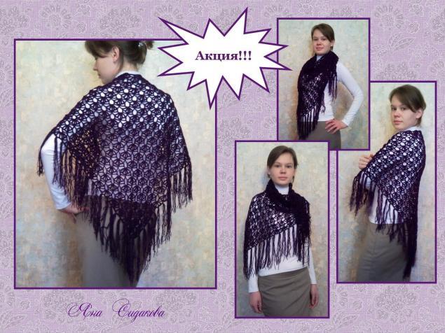 1000 рублей, вязание крючком, ажурная шаль, накидка, весенняя акция, одежда