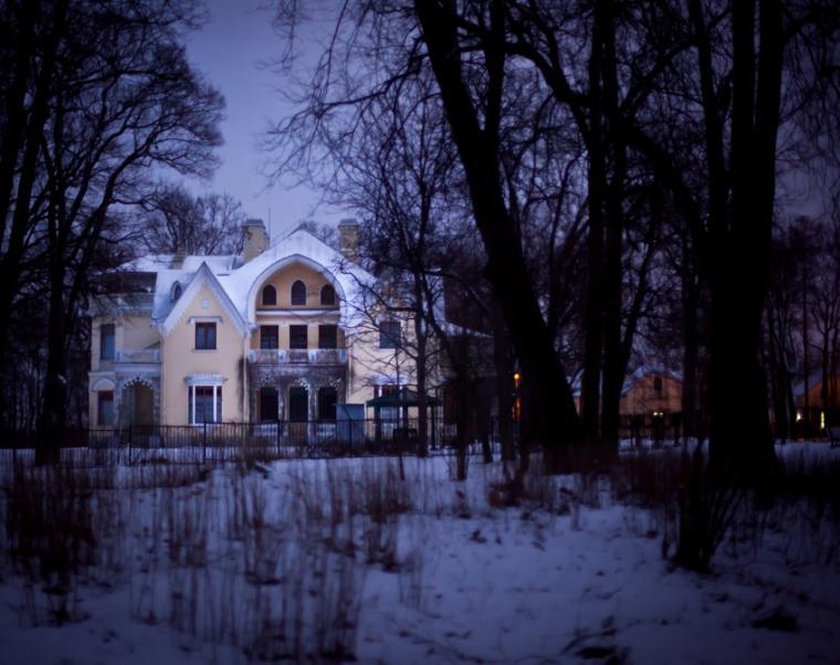 парк александрия, зима