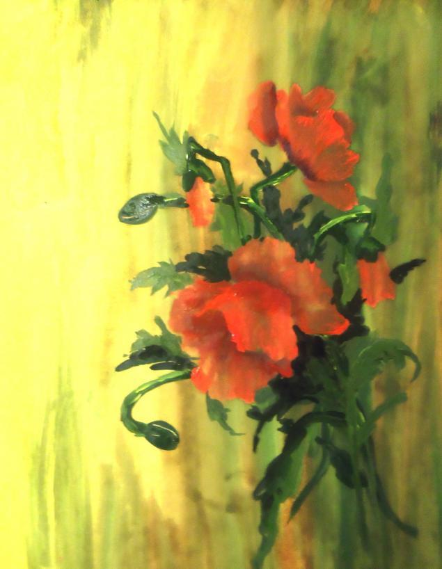 обучение живописи, обучение рисованию, арттренинги, мастеркласс, картина, живопись, мак, цветы, натали котова