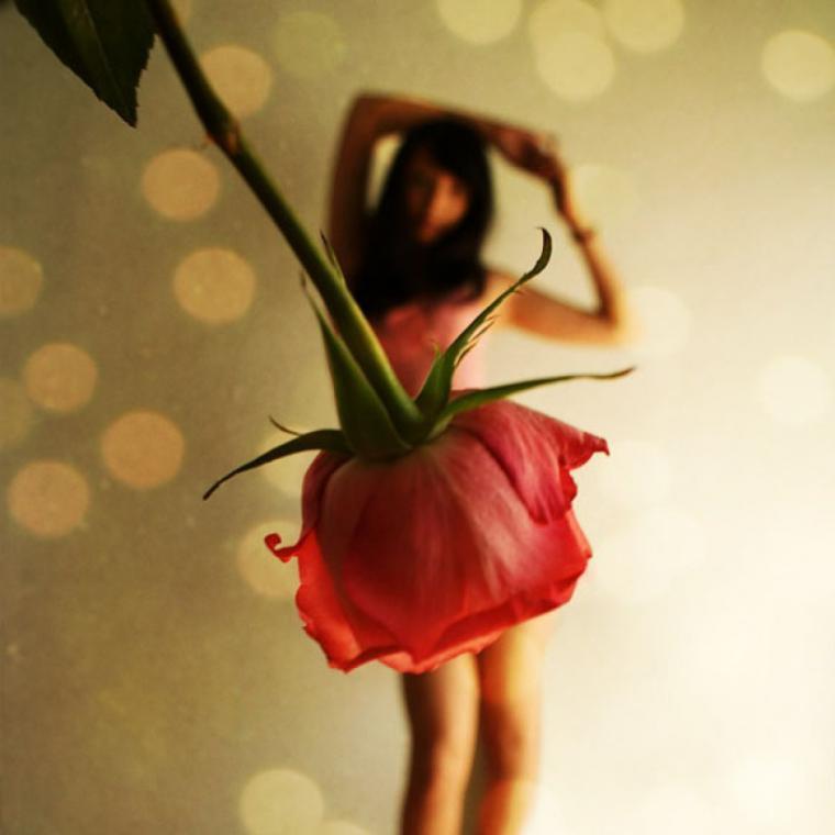 юбка из цветка