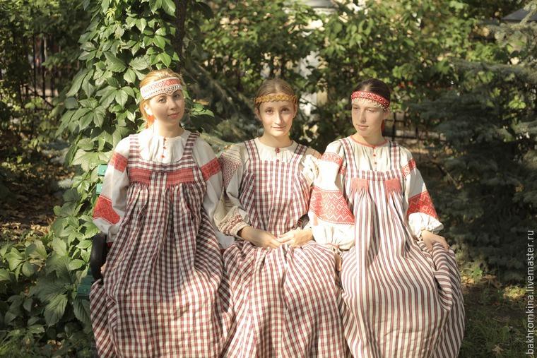 русский костюм, народный стиль