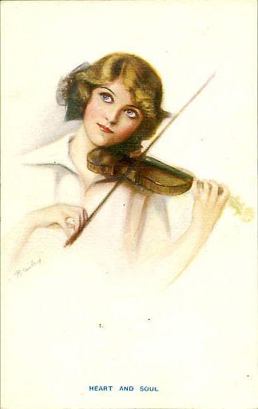 Серия открыток с изображениями юных