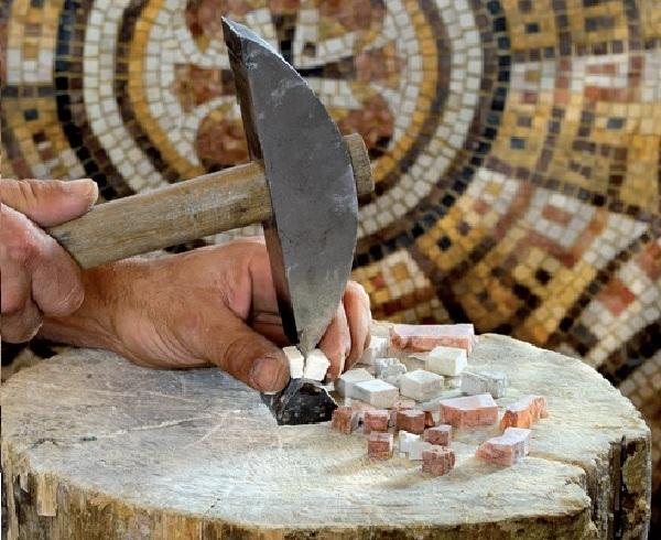 молоток для мозаики, мозаика