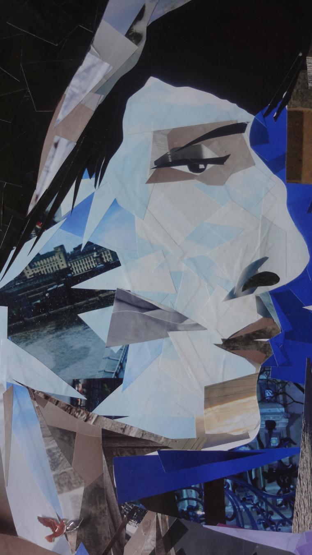 картина коллаж, ахматова рисунок